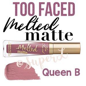 😍 3/$15 Too Faced Liquid Lipstick Queen B Matte